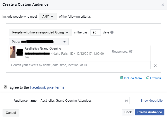 The custom audience is another type of Facebook audience.
