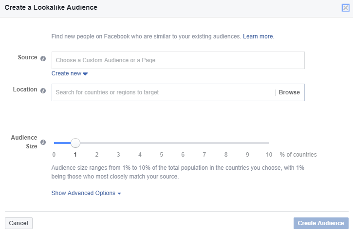 The lookalike audience is one Facebook audience.